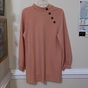 Pink tunic with buttons (new)